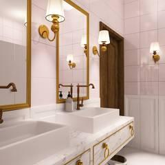 Łazienka damska: styl , w kategorii Hotele zaprojektowany przez Izabela Jurkiewicz Projektowanie Wnętrz