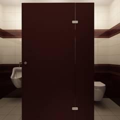 Łazienka męska: styl , w kategorii Hotele zaprojektowany przez Izabela Jurkiewicz Projektowanie Wnętrz