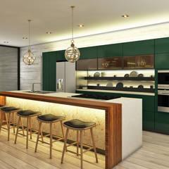 Casa de Campo Cocinas de estilo moderno de Luis Escobar Interiorismo Moderno