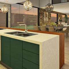 Casa de Campo : Cocinas de estilo  por Luis Escobar Interiorismo, Moderno