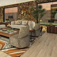 Casa de Campo : Salas / recibidores de estilo  por Luis Escobar Interiorismo, Moderno