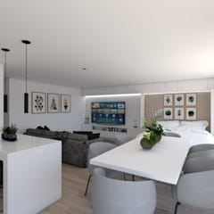 Apartamento na Ericeira Type01: Salas de estar  por DR Arquitectos ,Moderno