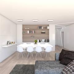 Apartamento na Ericeira Type02: Salas de estar  por DR Arquitectos