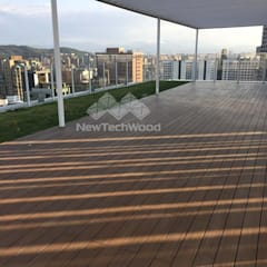 Roof terrace by 新綠境實業有限公司, Scandinavian Wood-Plastic Composite