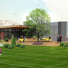 konseptDE Peyzaj Fidancılık Tic. Ltd. Şti. – ULUDAĞ KOLEJİ Peyzaj Projelendirme & Landscaping Project:  tarz Teras