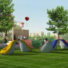 konseptDE Peyzaj Fidancılık Tic. Ltd. Şti. – ULUDAĞ KOLEJİ Peyzaj Projelendirme & Landscaping Project:  tarz Bahçe