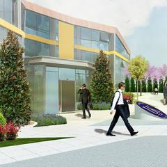 konseptDE Peyzaj Fidancılık Tic. Ltd. Şti. – ULUDAĞ KOLEJİ Peyzaj Projelendirme & Landscaping Project:  tarz Zeminler
