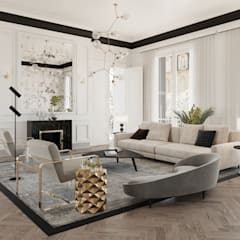 In House Designs - Modern Living Room Ideas:  Living room by Dessiner Interior Architectural,