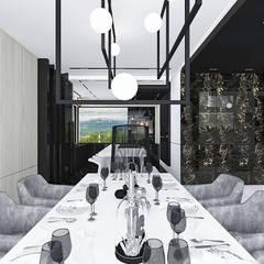 AT THE DROP OF A HAT | Wnętrza domu: styl , w kategorii Jadalnia zaprojektowany przez ARTDESIGN architektura wnętrz