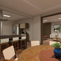 Apartamento 220mts Varandas, alpendres e terraços clássicos por NSFAZ ARQUITETURA E CONSTRUÇÃO Clássico
