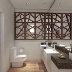 Apartamento 220mts: Banheiros  por NSFAZ ARQUITETURA E CONSTRUÇÃO