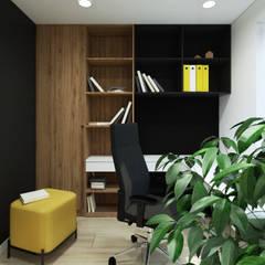 Gabinet w mieszkaniu w Krakowie: styl , w kategorii Pokój multimedialny zaprojektowany przez MACZ Architektura - Architekt wnętrz Kraków