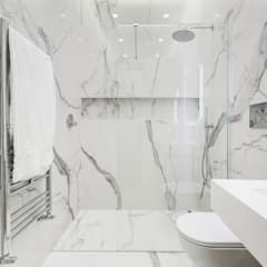 Urbana Residence Contemporary Design: Bagno in stile  di EF_Archidesign