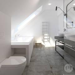 Łazienka na poddaszu.: styl , w kategorii Łazienka zaprojektowany przez 365 Stopni