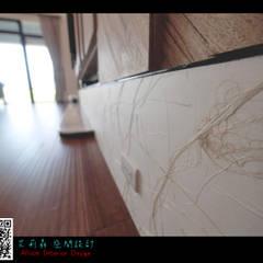 三星 禪:  客廳 by 艾莉森 空間設計