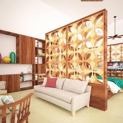 Loft Casa 53: Salas de estilo  por Escaleno Taller de Diseño