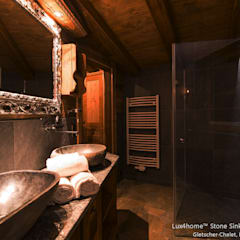 Natural Stone Basins - Hotel washbasins river stone:  Bathroom by Lux4home™ Indonesia
