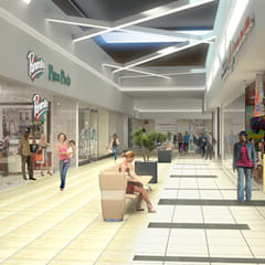 Imported and supplied Thavani mall with tiles:  Shopping Centres by Italian Vibes PTY, Minimalist
