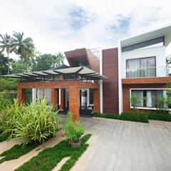 Private Residence at Thrivandram:  Houses by Kembhavi Architecture Foundation