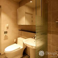 용인 신축 전원주택 A동 30py - 욕실: Design Daroom 디자인다룸의  욕실