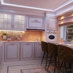 Интерьер кухни в классическом стиле: Крыши в . Автор – студия Design3F