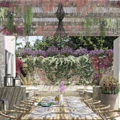 Can Cardoner Belleo: Giardino in stile  di architetto stefano ghiretti