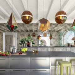 Can Cardoner Belleo: Cucina in stile  di architetto stefano ghiretti