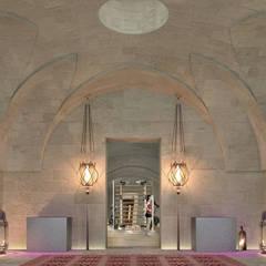 Can Cardoner Belleo: Sala da pranzo in stile  di architetto stefano ghiretti