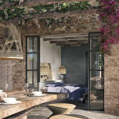 Can Escarrera 1: Sala da pranzo in stile  di architetto stefano ghiretti