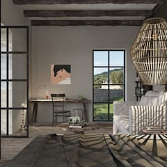 Can Escarrera 1: Camera da letto in stile in stile Eclettico di architetto stefano ghiretti