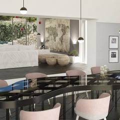 Can Escarrera 2: Sala da pranzo in stile  di architetto stefano ghiretti