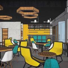 Familia Café [Guanajuato, Gto.]: Restaurantes de estilo  por 3C Arquitectos S.A. de C.V.