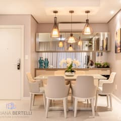 Sala de Jantar: Salas de jantar  por Mariana Bertelli Arquitetura e Interiores