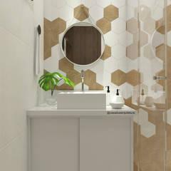 BANHEIRO : Banheiros  por CASA DUE ARQUITETURA