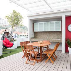 Parque Residencial Los Azulejos: Terrazas de estilo  por Bienes Raices Gaia