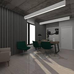 Escritório e quarto de Hospedes 2 em 1. minna interiores Leiria: Escritórios e Espaços de trabalho  por Minna Interiores