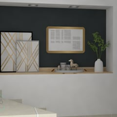 Lobby Torre de la Vega - Envigado: Edificios de oficinas de estilo  por Decó ambientes a la medida