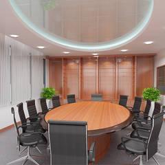 VĂN PHÒNG CÔNG TY TNHH QUỐC TẾ CHUTEX:  Văn phòng & cửa hàng by VAN NAM FURNITURE & INTERIOR DECORATION CO., LTD.