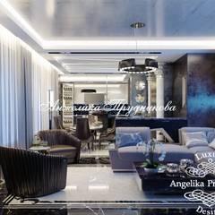 Дизайн-проект квартиры в ЖК «Эмеральд» в современном стиле: Гостиная в . Автор – Дизайн-студия элитных интерьеров Анжелики Прудниковой