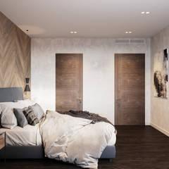 Квартира в 155 кв.м. в современном стиле в ЖК Флагман.: Спальни в . Автор – Студия архитектуры и дизайна Дарьи Ельниковой