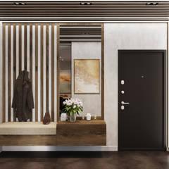 Corridor and hallway by Студия архитектуры и дизайна Дарьи Ельниковой
