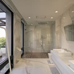 ห้องน้ำ by HJF建築室內設計  Ho Jia-fu Interior Design Co., Ltd.