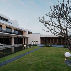 2015 TID 台灣室內設計大獎 /居住空間 /複層:  前院 by HJF建築室內設計  Ho Jia-fu Interior Design Co., Ltd.