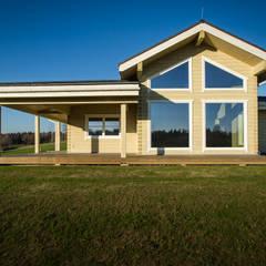 Fertighaus aus Holz bauen:  Blockhaus von THULE Blockhaus GmbH - Ihr Fertigbausatz für ein Holzhaus