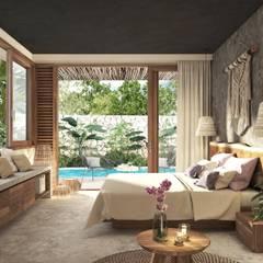 CASA IMOX TULUM: Casas de estilo  por Carlos Gallego, Tropical