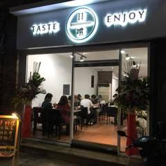 日嚐餐廳-大直(實踐大學旁):  餐廳 by 捷士空間設計(省錢裝潢)