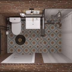 Загородный дом с элементами лофта и скандинавского стилей: Ванные комнаты в . Автор – Юлия Буракова