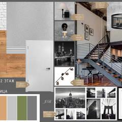 Загородный дом с элементами лофта и скандинавского стилей: Коридор и прихожая в . Автор – Юлия Буракова