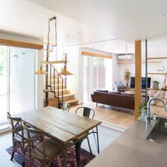 土間キッチンの家 house_in_nishiyama: タイラ ヤスヒロ建築設計事務所/yasuhiro taira architects & associatesが手掛けたキッチンです。