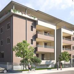ARCHITETTURA - Render fotorealistici d'esterni: Condominio in stile  di Insighters Computer Graphics
